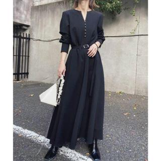 Ameri VINTAGE - 完売品 AMERI UNDRESSED BACK TUCK DRESS ブラック