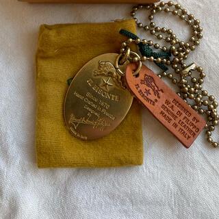 イルビゾンテ(IL BISONTE)のイルビゾンテ★プレートネックレス★真鍮★y(ネックレス)