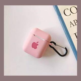 Apple - AirPods ケース シリコン カバー Appleロゴ