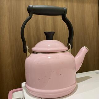 ルクルーゼ(LE CREUSET)のルクルーゼ ピンク ケトル(鍋/フライパン)