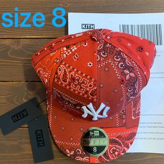 ニューエラー(NEW ERA)のKITH yankees new era bandana cap size8(キャップ)