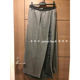 サカイラック(sacai luck)のロンハーマン 購入 sacai luck マキシ ロング ラップ スカート(ロングスカート)
