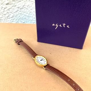 アガット(agete)のagete 腕時計 ルビー ゴールド 大人気 オーバル(腕時計)