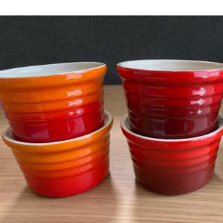 ルクルーゼ(LE CREUSET)のルクルーゼ ラムカン 4個セット 美品 食器(食器)