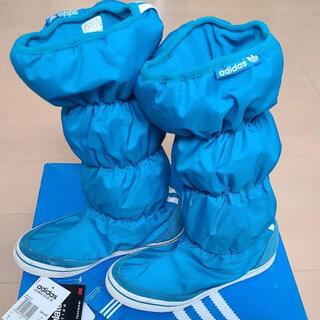 アディダス(adidas)のadidasブーツ スノーブーツ 青(ブーツ)