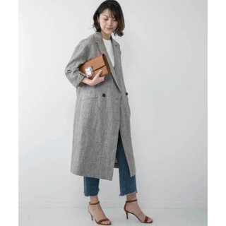 DEUXIEME CLASSE - 定価75900円 ドゥーズィエムクラス リネン グレンチェック コート
