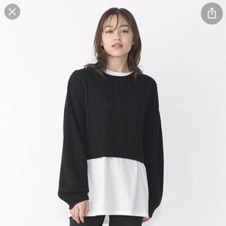 しまむら - しまむら  ニットプルオーバー+Tシャツ  ブラック
