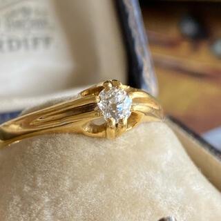 英国 アンティーク オールドマインカット ダイヤモンドリング 1918年