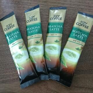 キーコーヒー 抹茶ラテ スティックタイプ 4本セット(茶)