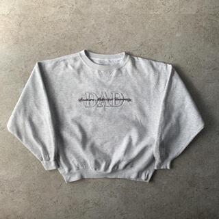 ギルタン(GILDAN)のGEAR US古着 刺繍 スウェット グレー L ストリート ウィメンズ(スウェット)