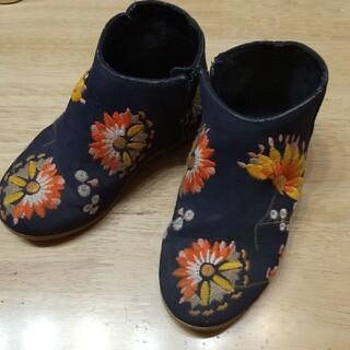 ZARA KIDS - ★ZARA★16★ブーツ★刺繍入り★ネイビー