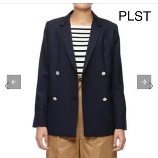 PLST - PLST ウール混ポリエステルフロントダブルジャケット