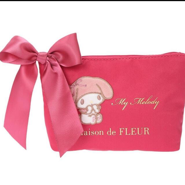 Maison de FLEUR(メゾンドフルール)の新品 メゾンドフルール  ピンクマニア マイメロディ ポーチ レディースのファッション小物(ポーチ)の商品写真