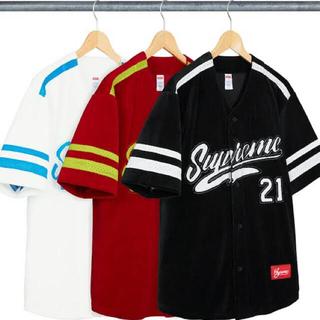 Supreme - Supreme Velour Baseball Jersey ブラック