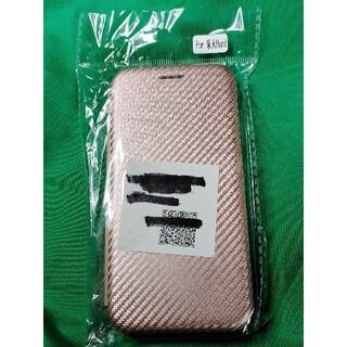 楽天 ラクテンモバイル hand ハンド 手帳型ケース カーボン柄 ピンク色 (モバイルケース/カバー)