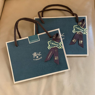 イルビゾンテ(IL BISONTE)のイルビゾンテ ショッパー2枚 プレゼント ラッピング(ショップ袋)