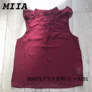 ミーア(MIIA)のMIIA レースブラウス ノースリーブ(シャツ/ブラウス(半袖/袖なし))