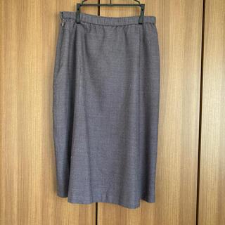 サンヨー(SANYO)のSANYO スカート  大きいサイズ グレー系(ひざ丈スカート)