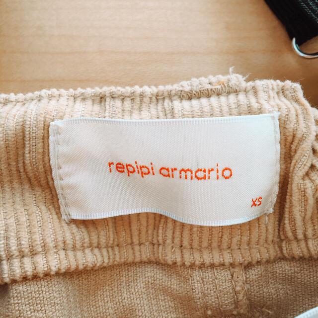 repipi armario(レピピアルマリオ)のrepipi armario ショートパンツ♡コーデュロイ サスペンダー 140 キッズ/ベビー/マタニティのキッズ服女の子用(90cm~)(パンツ/スパッツ)の商品写真