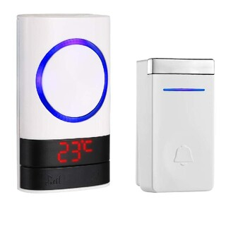 ワイヤレスチャイム 呼び鈴 介護 玄関チャイム 自動発電 防水耐湿 ドアチャイム