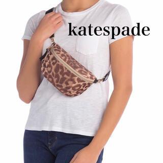 ケイトスペードニューヨーク(kate spade new york)のケイトスペード ロゴ ボディバッグ ウエスト ポーチ ヒョウ柄 財布 新品 (ボディバッグ/ウエストポーチ)