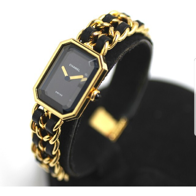 CHANEL(シャネル)のシャネル プルミエール H0451  L GP 黒文字盤 クォーツ レディースのファッション小物(腕時計)の商品写真