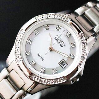 CITIZEN - 【ダイヤモンド付】新品 海外限定 シチズン エコドライブ レディース腕時計