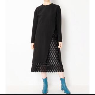 LE CIEL BLEU - ルシェルブルー ドット ワンピース スカート
