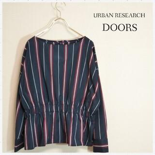 DOORS / URBAN RESEARCH - アーバンリサーチ ドアーズ☆ペプラムデザインブラウス