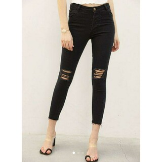 ALEXIA STAM - ALEXIASTAM skinny pants ブラックスキニーデニム S