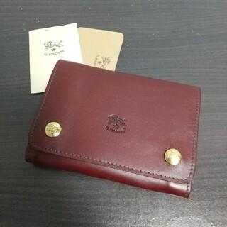 イルビゾンテ(IL BISONTE)の新品 イルビゾンテ 本革 レザー ウォレット 財布 赤茶 ワインレッド ブラウン(折り財布)