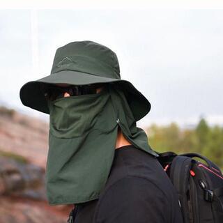 477.フェイスカバー サンバイザー サファリハット フェイスマスク 帽子 釣り(ウエア)