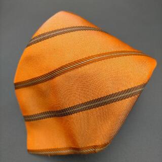 Paul Smith - Paul Smith ネクタイ オレンジ カーキ ストライプ レジメンタル 絹