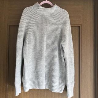 ムジルシリョウヒン(MUJI (無印良品))のヤク入りウール 畦編みモックネックセーター 婦人M グレー(ニット/セーター)