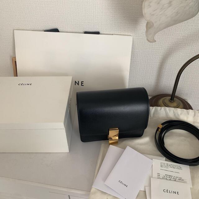 celine(セリーヌ)のceline クラシックボックス スモール ブラック レディースのバッグ(ショルダーバッグ)の商品写真