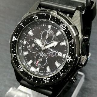 カシオ(CASIO)のカシオ ダイバー ブラック【男の腕に光るワイルド感】インスパイアー メンズ腕時計(腕時計(アナログ))