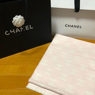 CHANEL - CHANEL シャネル 新色 ピンク ロゴ マフラー