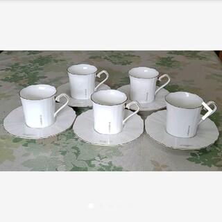 ジバンシィ(GIVENCHY)のジバンシーカップ&ソーサー GIVENCHY  ボーンチャイナ 5客セット(食器)