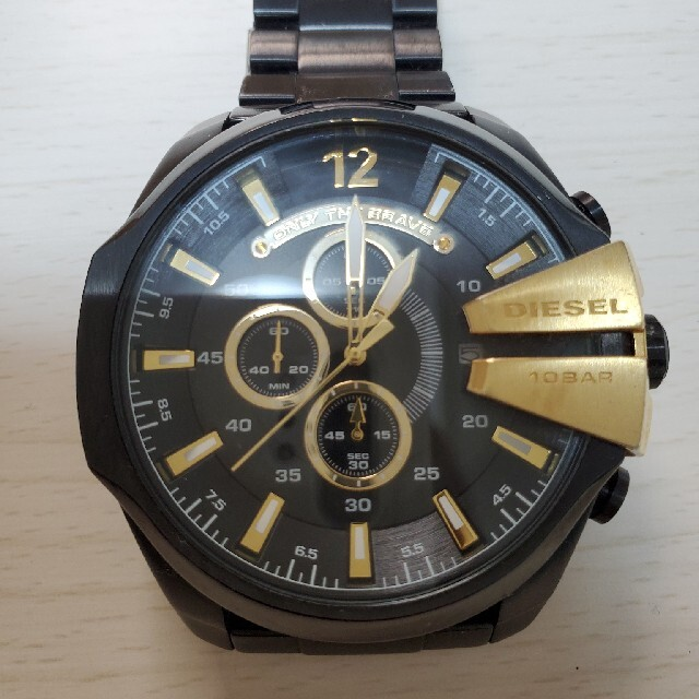 DIESEL(ディーゼル)のDIESEL 腕時計 ブラック×ゴールド メンズの時計(その他)の商品写真
