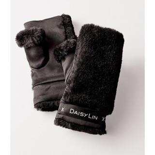 FOXEY - Daisy Lin Love Fur Gloves (Black Black)