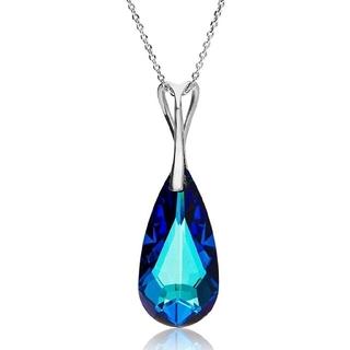 スワロフスキー(SWAROVSKI)のスワロフスキー クリスタル Bermuda Blue シルバー925 ネックレス(ネックレス)
