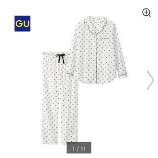 GU - 【超美品】GU * コットンブレンドパジャマ(ハート)
