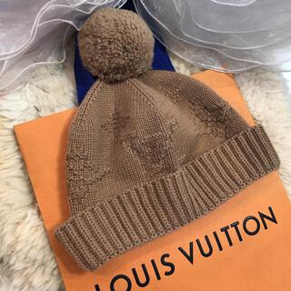 ルイヴィトン(LOUIS VUITTON)の☆美品☆ルイヴィトン ニット帽 カシミヤ100% ベージュ系(ニット帽/ビーニー)