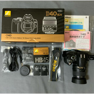 Nikon - とても美品です。Nikon D40 標準ズームレンズセット 別途付属品付きです。