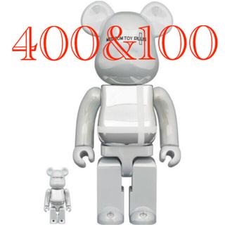 メディコムトイ(MEDICOM TOY)のBE@RBRICK WHITE CHROME 100% & 400%(その他)