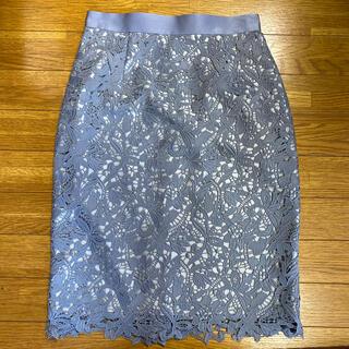 Apuweiser-riche - アプワイザーリッシェ カラーレースタイトスカート