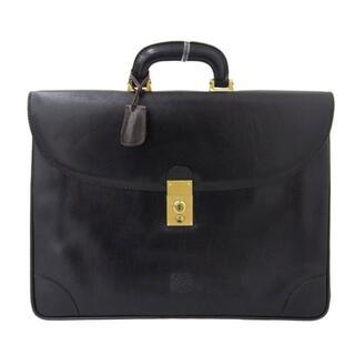 ロエベ(LOEWE)のロエベ LOEWE ビジネスバッグ レザー ブラック 黒 ゴールド金具(セカンドバッグ/クラッチバッグ)