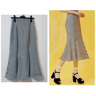 snidel - snidel♡プリントミドルフレアスカート