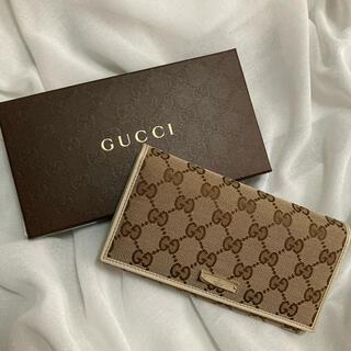 Gucci - 【新品未使用】 GUCCI 長財布 箱つき ベージュ×ホワイト グッチ 高級