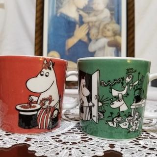 アラビア ムーミンママ と希少価値高い  ドローイング  マグカップ 2つセット